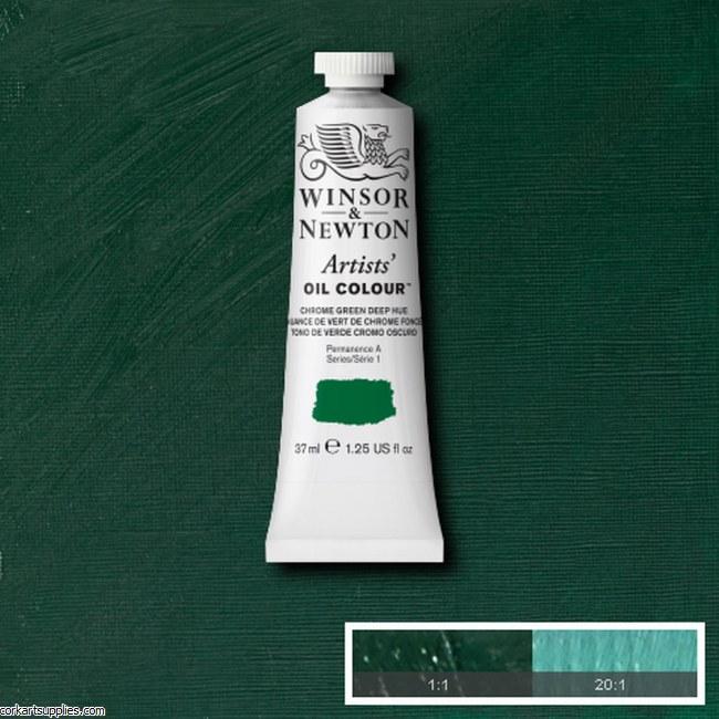 W&N Artists Oil 37ml Chrome Green Deep (Hue)