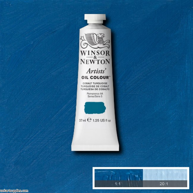 W&N Artists Oil 37ml Cobalt Turquoise