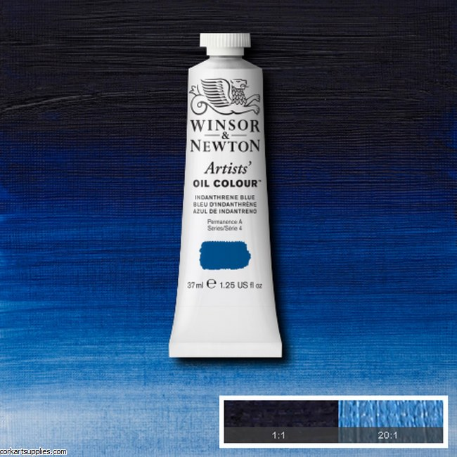 W&N Artists Oil 37ml Indanthrene Blue