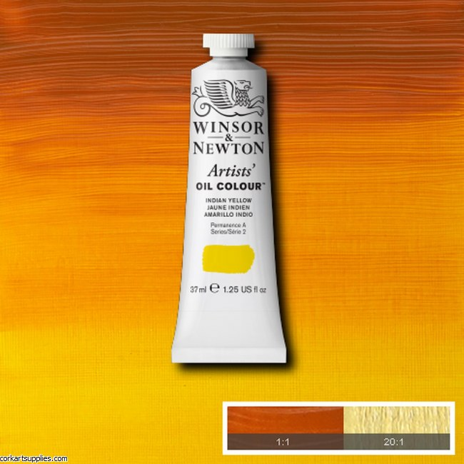 W&N Artists Oil 37ml Indian Yellow
