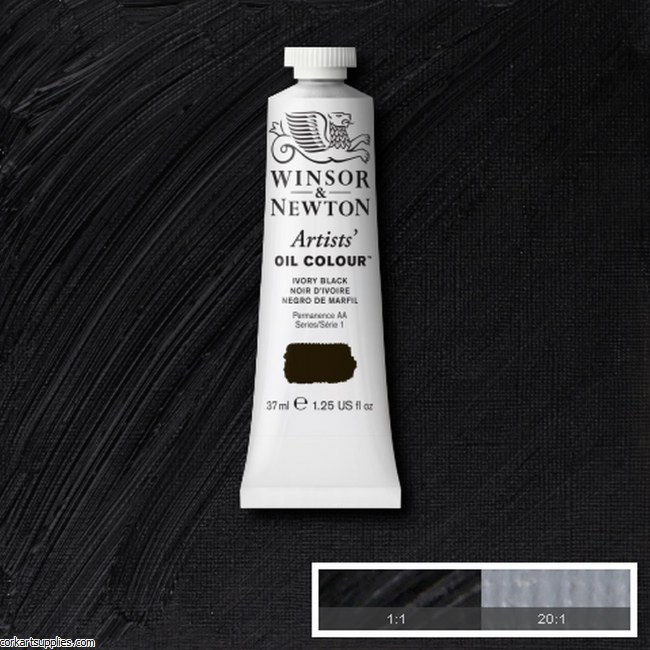 W&N Artists Oil 37ml Ivory Black