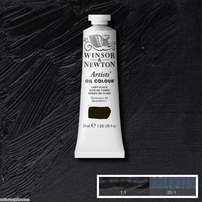 W&N Artists Oil 37ml Lamp Black