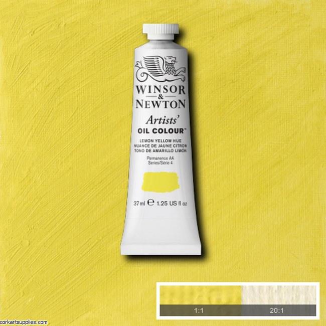 W&N Artists Oil 37ml Lemon Yellow (Nickel Titanate)