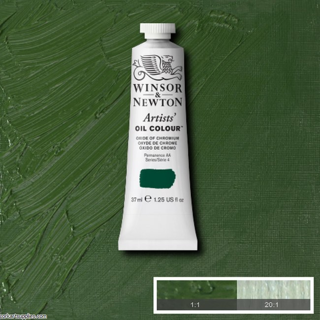 W&N Artists Oil 37ml Oxide Of Chromium