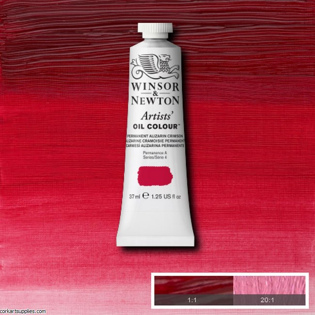 W&N Artists Oil 37ml Permanent Alizarin Crimson