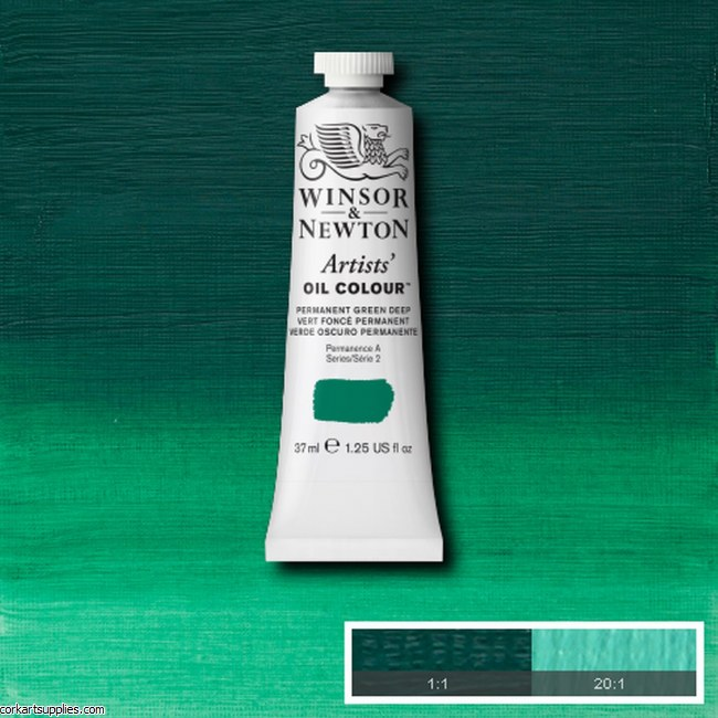 W&N Artists Oil 37ml Permanent Green Deep