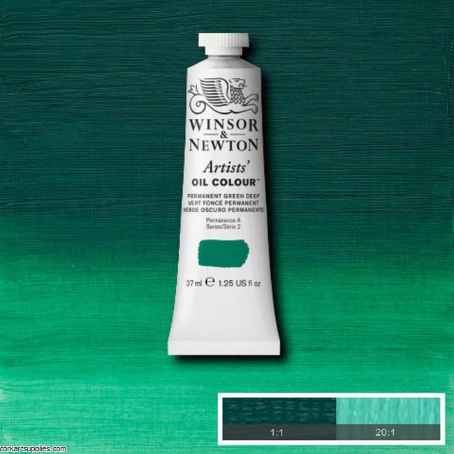 W&N Artists Oil 37ml Permanent Green Deep
