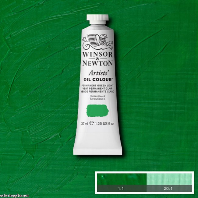 W&N Artists Oil 37ml Permanent Green Light
