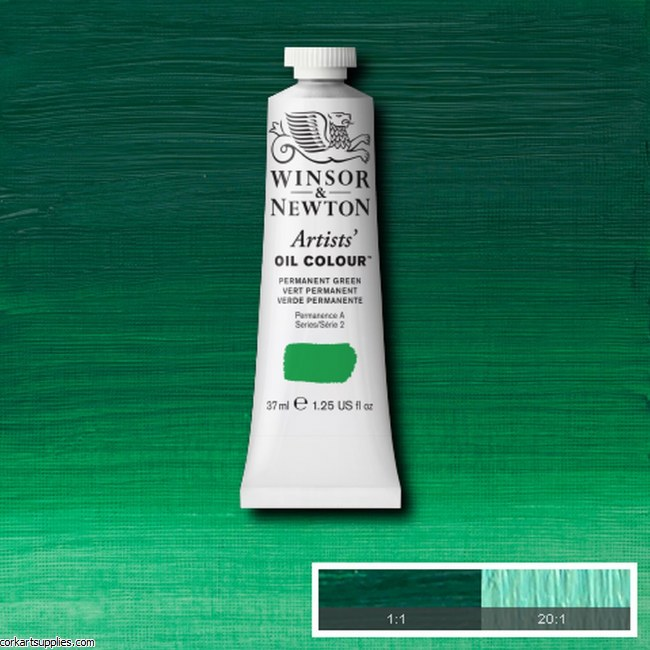 W&N Artists Oil 37ml Permanent Green