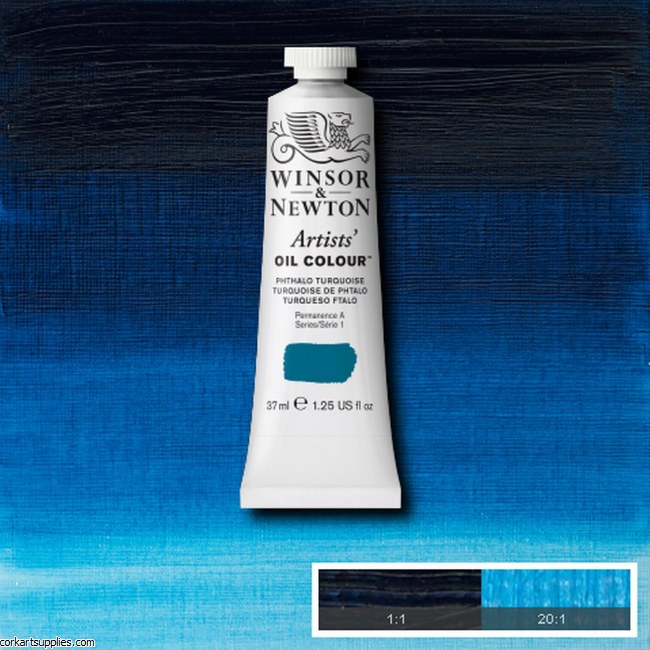 W&N Artists Oil 37ml Phthalo Turquoise