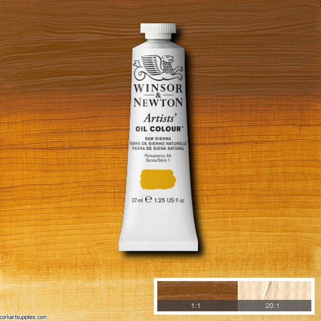 W&N Artists Oil 37ml Raw Sienna