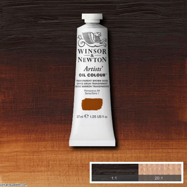 W&N Artists Oil 37ml Transparent Brown Oxide