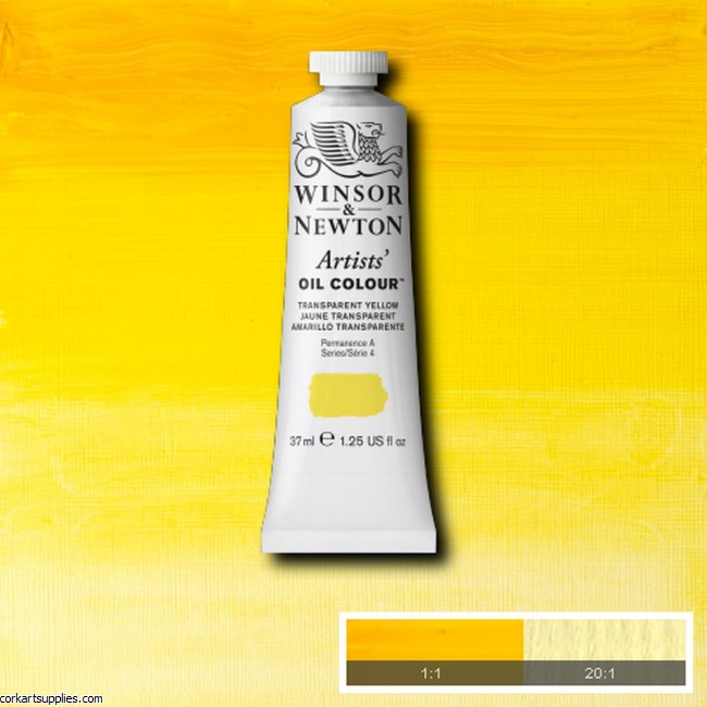 W&N Artists Oil 37ml Transparent Yellow