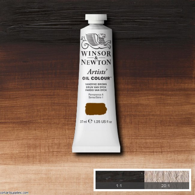 W&N Artists Oil 37ml Vandyke Brown