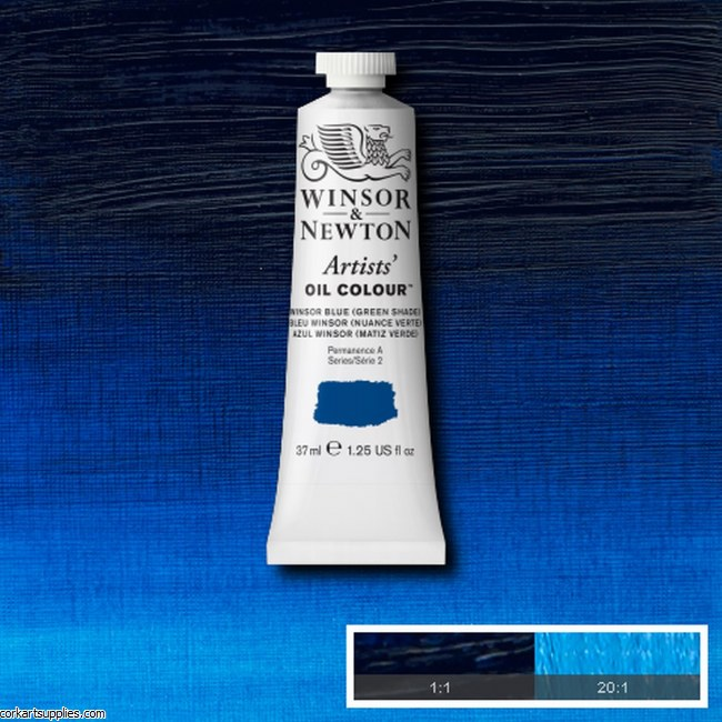 W&N Artists Oil 37ml Winsor Blue (Green Shade)