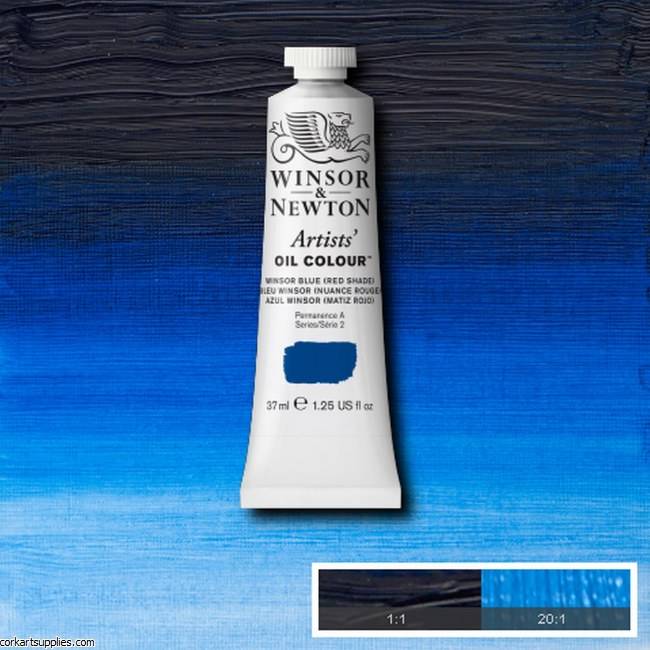 W&N Artists Oil 37ml Winsor Blue (Red Shade)