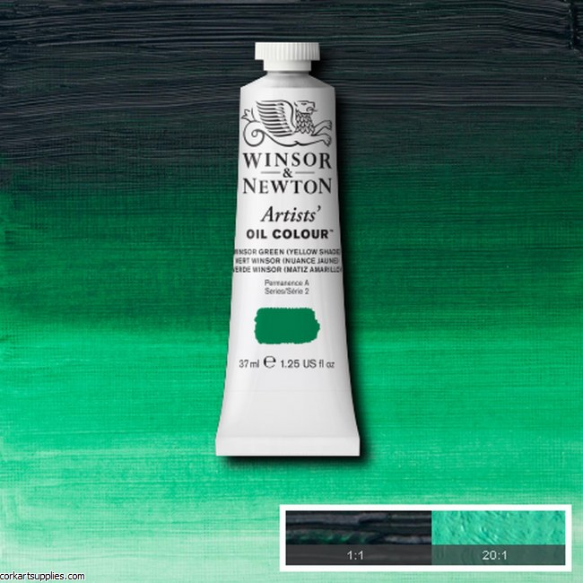W&N Artists Oil 37ml Winsor Green (Yellow Shade)