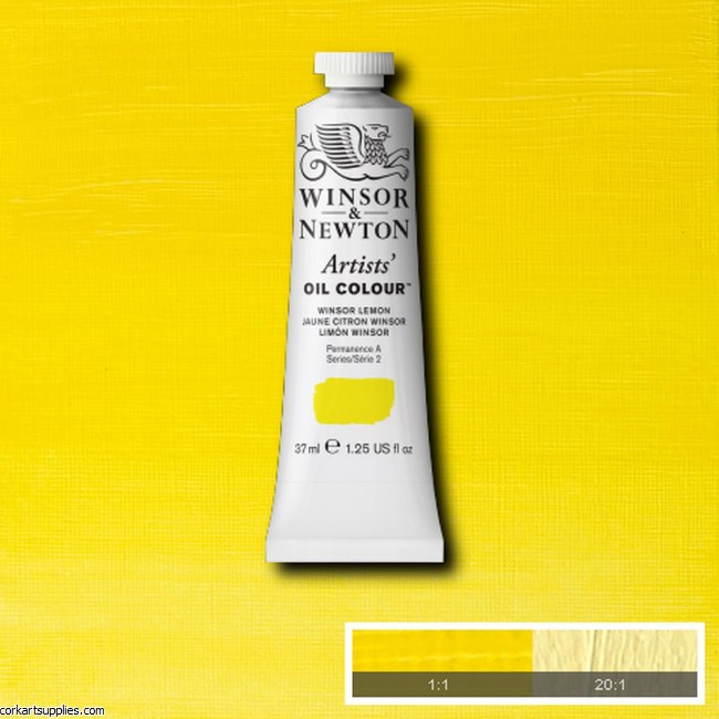 W&N Artists Oil 37ml Winsor Lemon