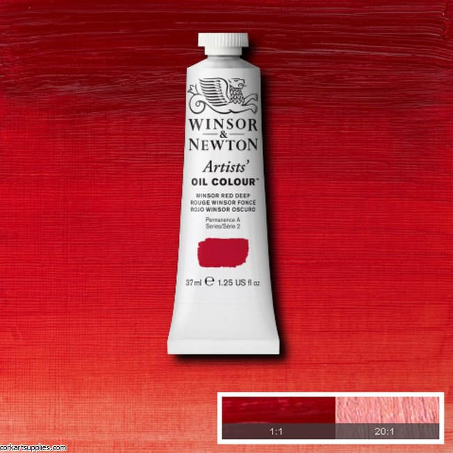 W&N Artists Oil 37ml Winsor Red Deep