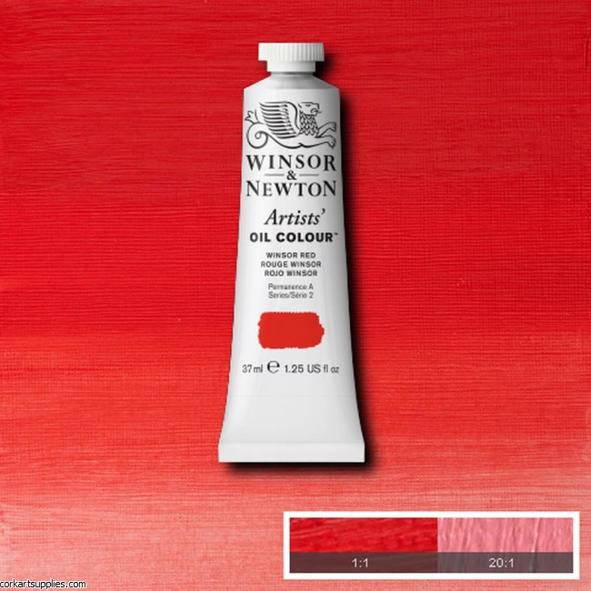 W&N Artists Oil 37ml Winsor Red