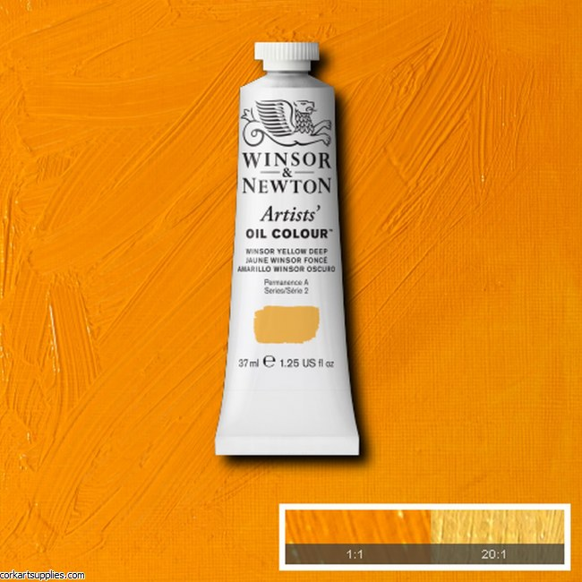 W&N Artists Oil 37ml Winsor Yellow Deep