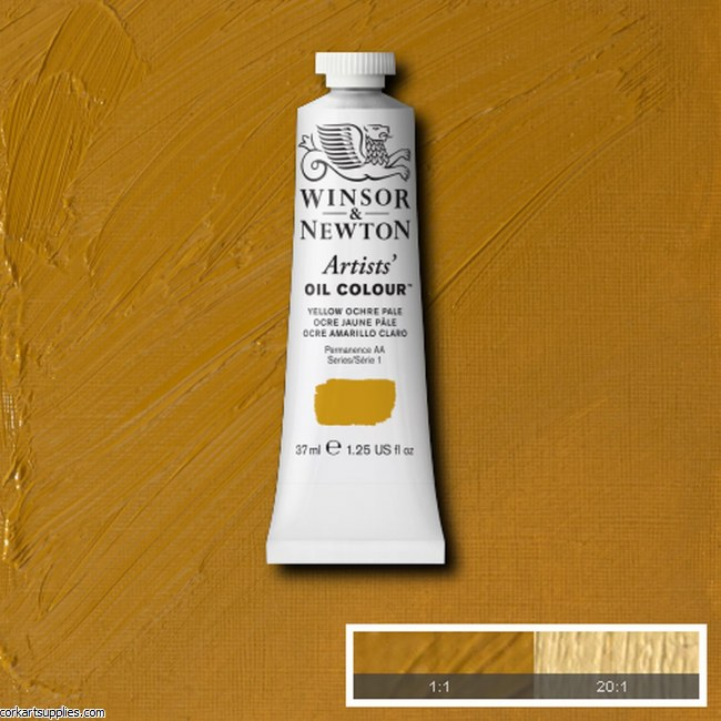 W&N Artists Oil 37ml Yellow Ochre Pale