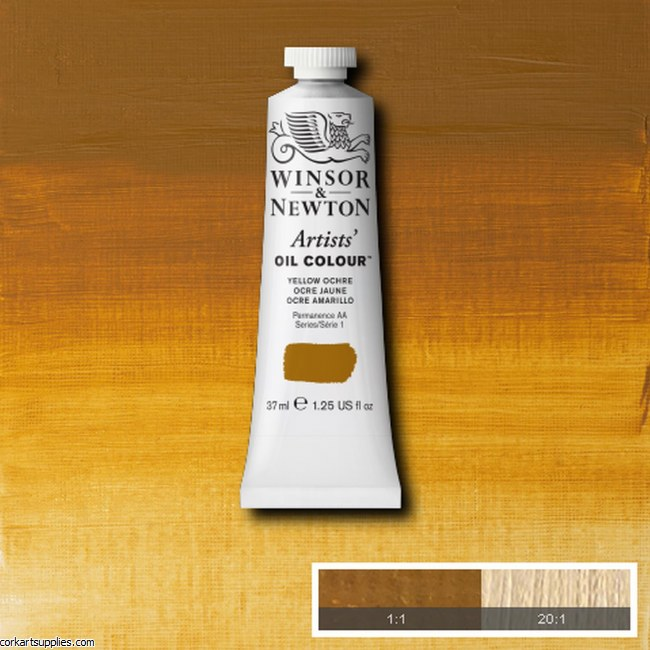 W&N Artists Oil 37ml Yellow Ochre