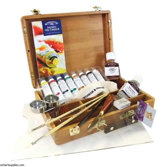 Winsor & Newton Artist's Oil Colour Bamboo Box Set
