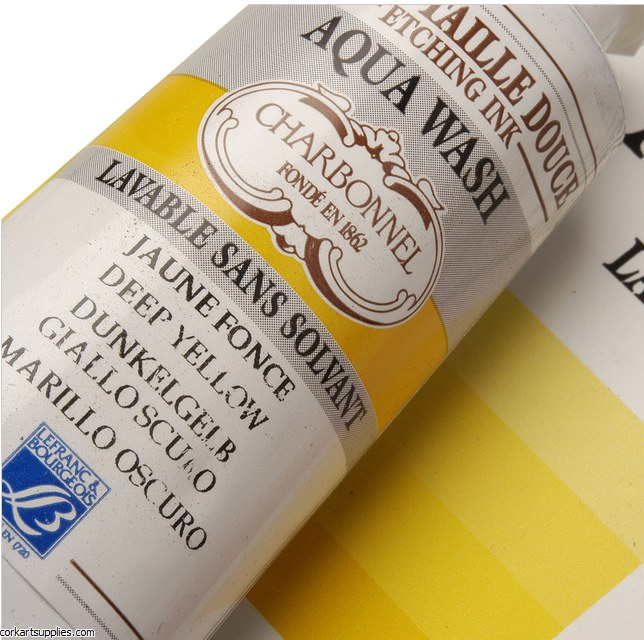 Charbonnel Deep Yellow 60ml Aqua Wash Etching Ink