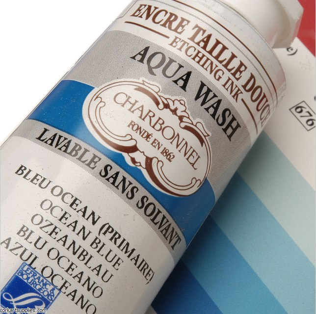 Charbonnel Ocean Blue 60ml Aqua Wash Etching Ink