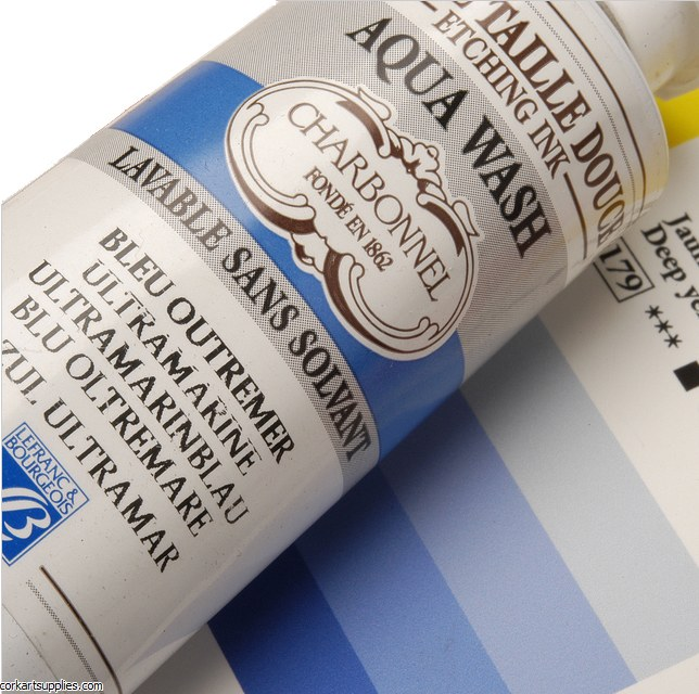 Charbonnel Ultramarine 60ml Aqua Wash Etching Ink