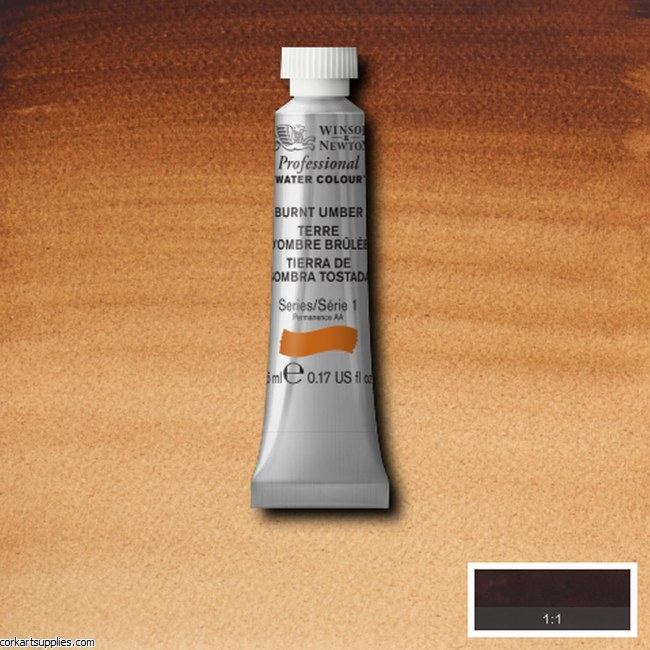 Artists Watercolour 5ml Burnt Umber