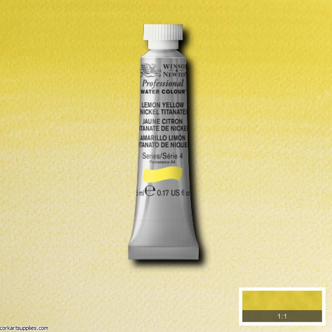 Artists Watercolour 5ml Lemon Yellow (Nickel Titanate)