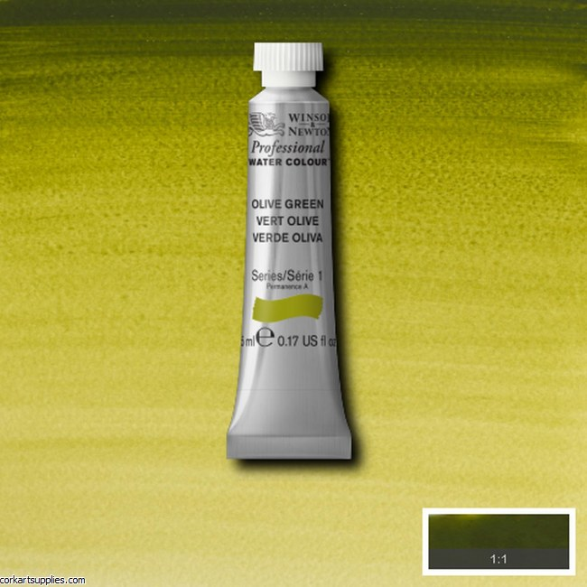 Artists Watercolour 5ml Olive Green