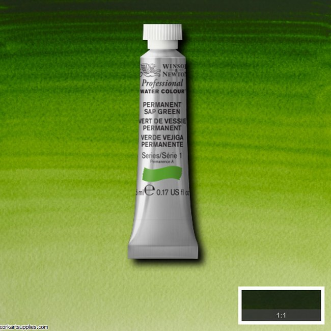 Artists Watercolour 5ml Permanent Sap Green