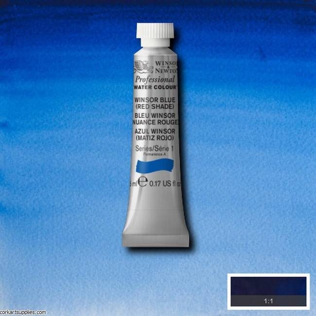 Artists Watercolour 5ml Winsor Blue (Red Shade)