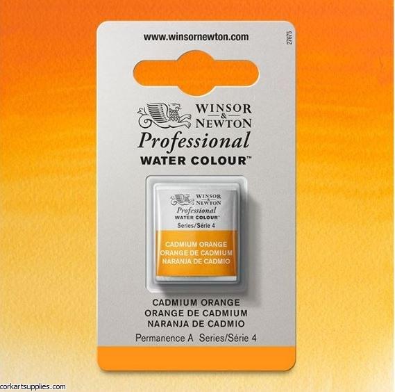 Artists Watercolour Halfpan Cadmium Orange