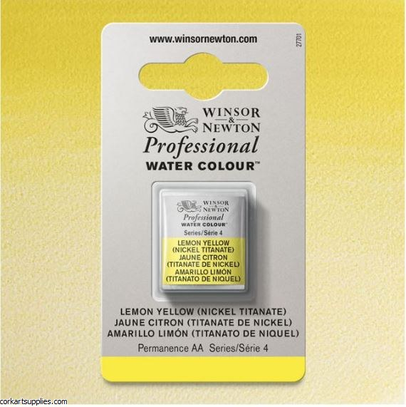 Artists Watercolour Halfpan Lemon Yellow (Nickel Titanate)