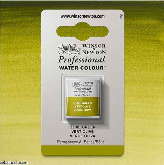 Artists Watercolour Halfpan Olive Green