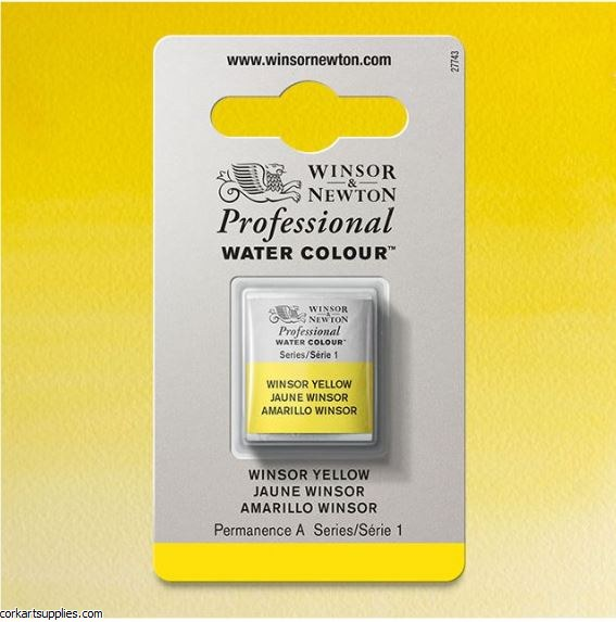 Artists Watercolour Halfpan Winsor Yellow