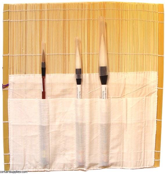Brush Holder Bamboo Wrap