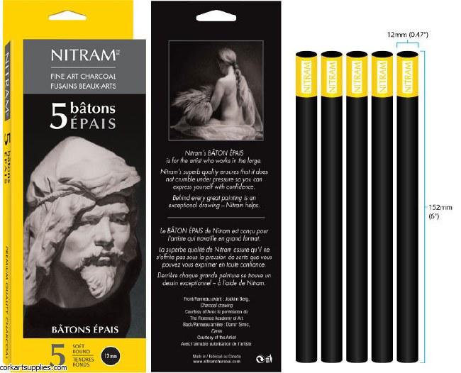 Nitram Batons Epais 12mm 5pk
