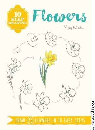 Book 10 Step Drawing Flowers