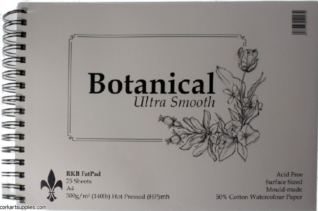 Botanical 300gm A4 Hot Pressed 25 Sheets