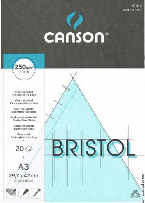 Bristol Pads A3 250g Canson 20 Sheet