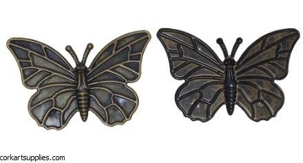 CAS Embellies Bronze Bfly 9pk