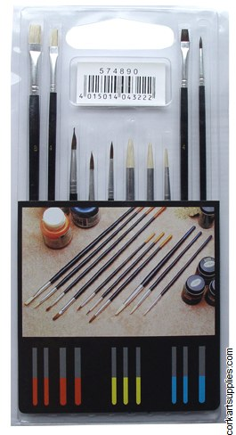 Brushes Assorted Sizes 10 Pack