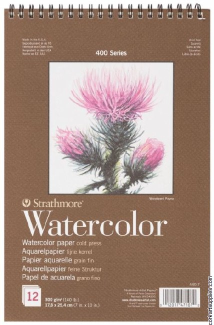 Strathmore Watercolour S.400 12sh 300gm/140lb 7x10""
