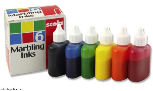 Marbling Ink 25ml 6pk Scola