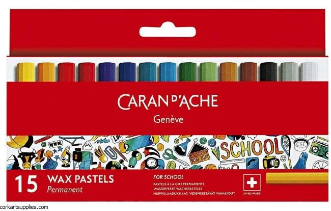 Caran D'Ache Wax Pastels 15pk*